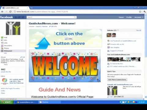 how to make a youtube facebook page