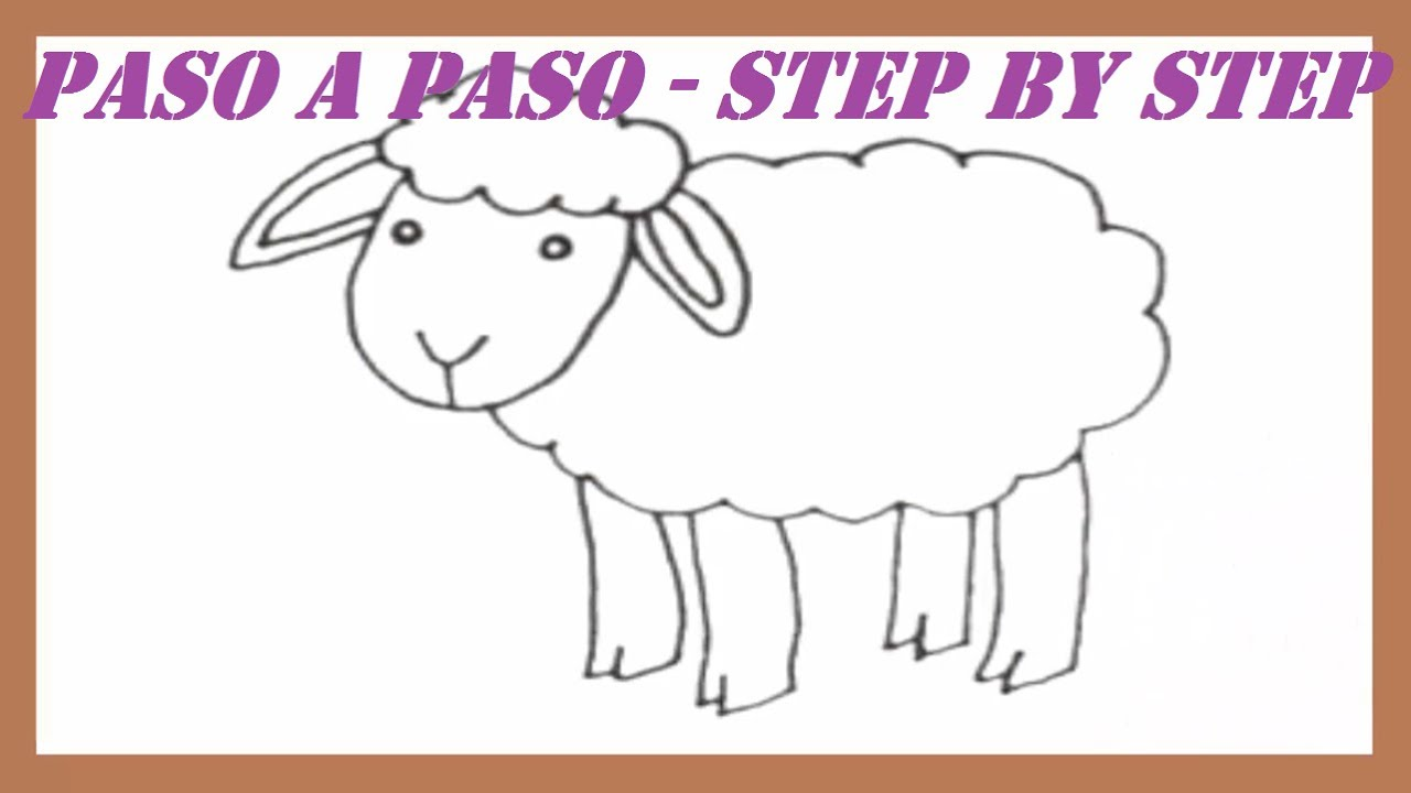 Como dibujar una oveja paso a paso l how to draw a sheep - Como hacer una oveja ...