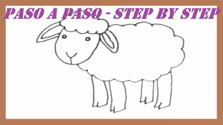 Como dibujar una Oveja paso a paso l How to draw a Sheep step by step