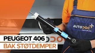 Hvordan bytte Bak støtdemper på PEUGEOT 406 BRUKSANVISNING | AUTODOC