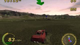 Crazy Bumps Kattobi Car Battle Gameplay {PS2} {HD 1080p}
