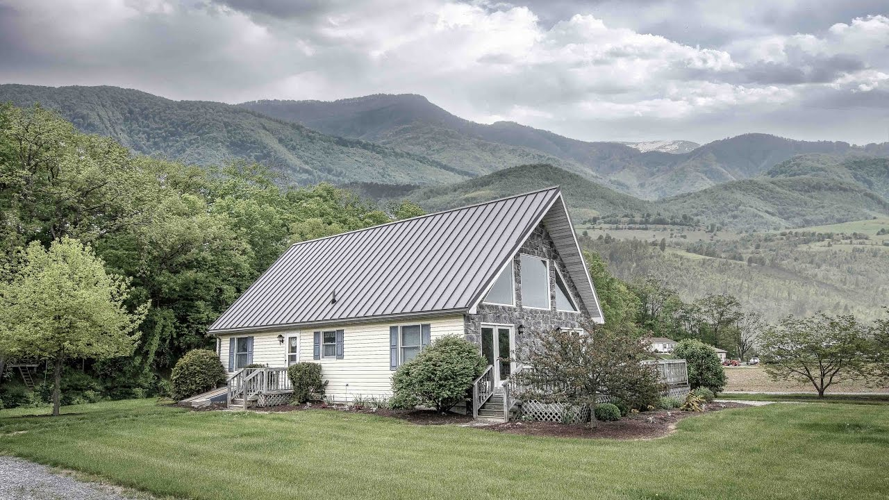 A Frame House With Textured Metal Roof A B Martin 4k