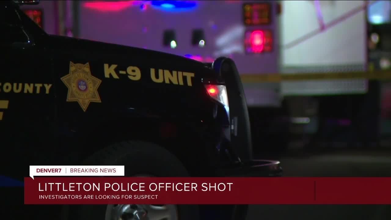 Download Littleton police officer shot, manhunt underway for suspect