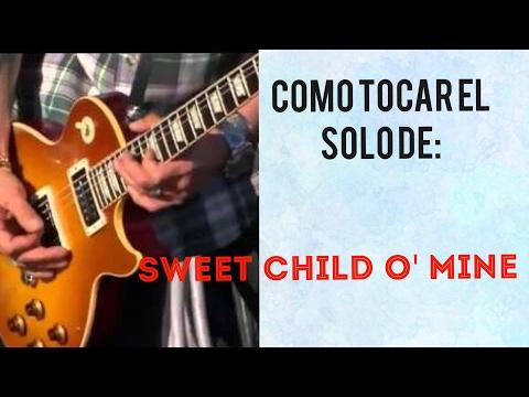 como tocar el solo de sweet child o' mine