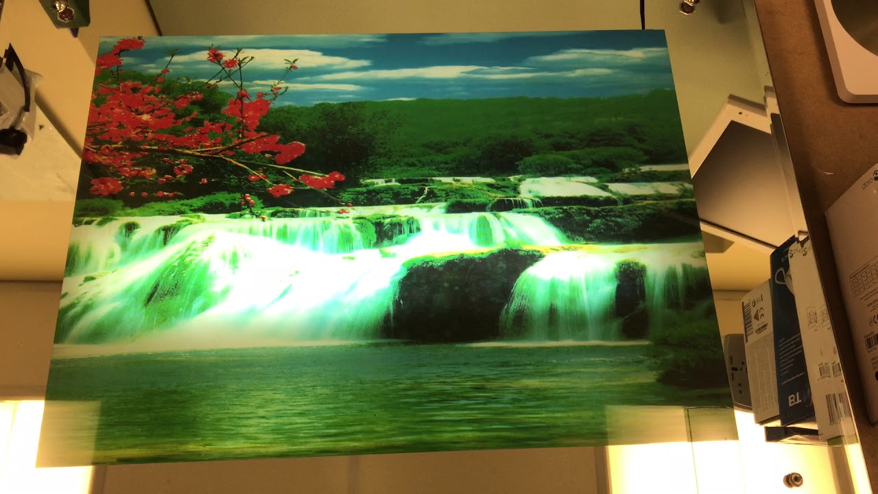 Super Kitch Moving Waterfall Light Up Picture Frame