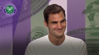Roger Federer Wimbledon 2017 final press conference thumbnail