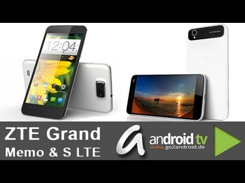 [CeBIT 2013] ZTE Grand Memo & Grand S LTE - android tv
