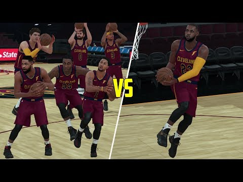 Can Lebron James Beat The Rest Of The Cavaliers Playing Alone? NBA 2K18 Challenge!