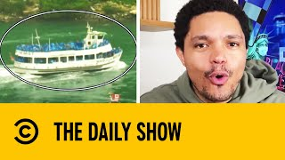 Overcrowded American Boat At Niagara Falls Show US Corona ResponseI The Daily Show With Trevor Noah