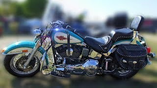 ▶️ motorcycle sound effect harley davidson softail cruising motorcycle white noise 12 hours 📢