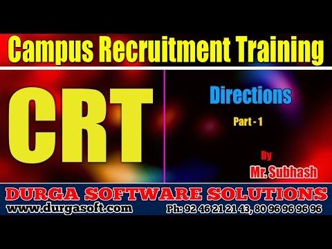 Campus Recruitment Training (CRT)  Aptitude  Directions Part - 1