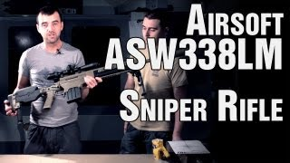 ASG Ashbury ASW338LM Airsoft Sniper Rifle Shooting Test - EpicAirsoftHD