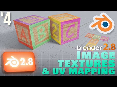 Blender 2.8: Image Textures & UV Mapping #b3d