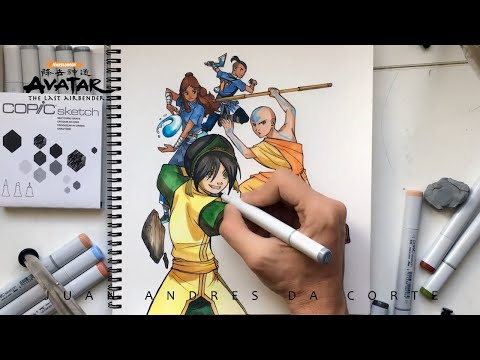 💨🔥 AVATAR THE LAST AIRBENDER 💦 Speed Drawing