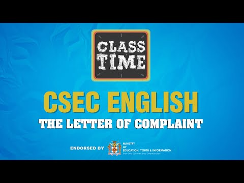 CSEC English - The Letter of Complaint - March 11 2021