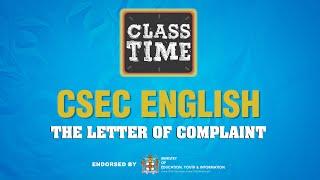 CSEC English - Tнe Letter of Complaint - March 11 2021