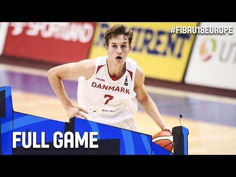 Belgium v Denmark - Full Game - FIBA U18 European Championship 2017 - DIV B