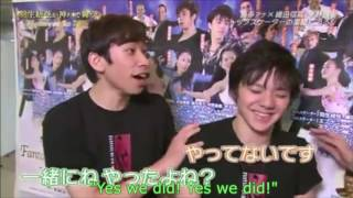 FaOI Shoma Uno & Nobunari Oda interview_Eng Sub_Fantasy on ice 2015