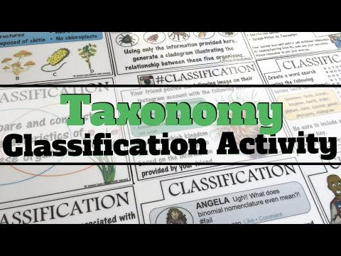 Teaching Biology - Classification and Taxonomy Task Cards (Overview)