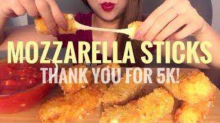 ASMR Deep Fried Mozzarella Cheese Sticks Three Ways   Cooking & Crunchy Eating Sounds (No Talking)