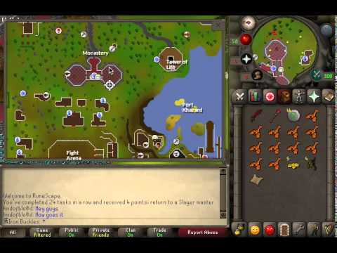 Runescape 2007 - Find a crate close to the monks that like to party ...