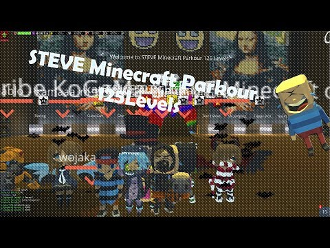 KoGaMa - SpeedRun - STEVE Minecraft Parkour 125 Levels