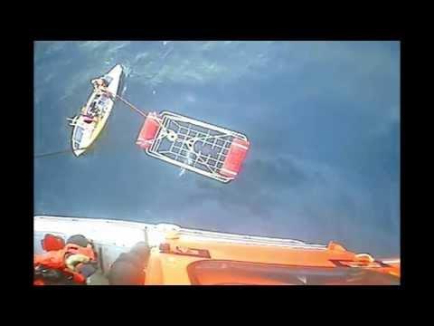 Coast Guard rescues solo Great Pacific Race rower off Morro Bay, California!