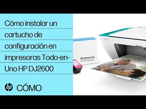 Cómo instalar un cartucho de configuración en impresoras Todo-en-Uno HP DeskJet de serie 2600 | HP