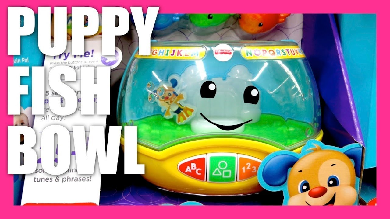 Fisher price laugh and learn magical lights puppy fish for Fisher price fish bowl