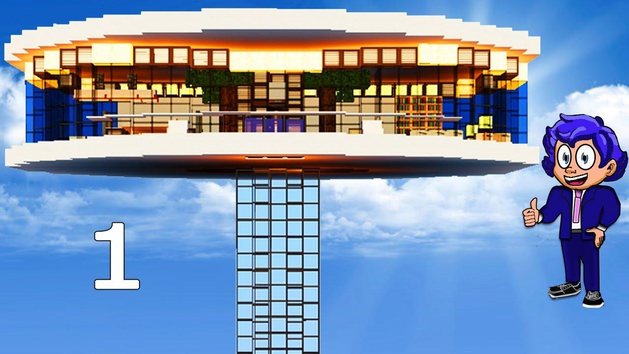 Casa futurista en minecraft p 1 presentaci n y aventura for Casa moderna 4 mirote y blancana