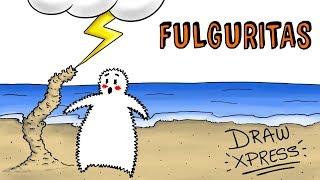 FULGURITA ⚡ ¿Qué pasa cuando un rayo cae sobre la arena?    Draw My Life