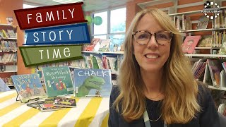 video thumbnail: Family Story Time - Chalk Art!