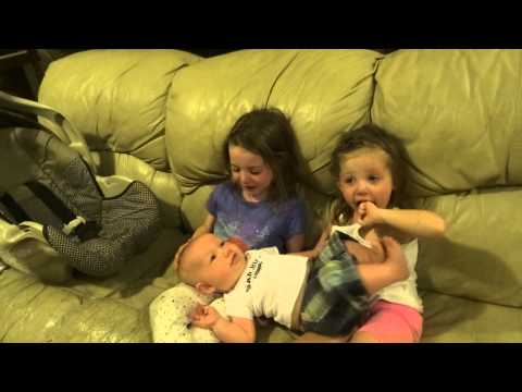 Sisters Crying: Don't want to Baby Brother to Grow Up