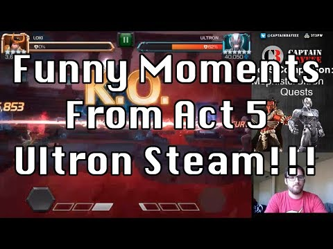 Funny Moments From Act 5 Completion Stream!!! Marvel Contest of Champions