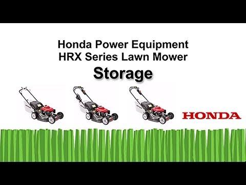 HRR216 Series Lawn Mower Storage