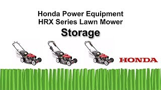 HRR216 Series Lawn Mower Storage
