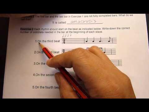 Music Theory Grade 1  Distinction 12 Anacrusis