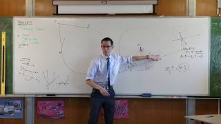 Tangents of Circles (2 of 4: Tangent perpendicular to radius)
