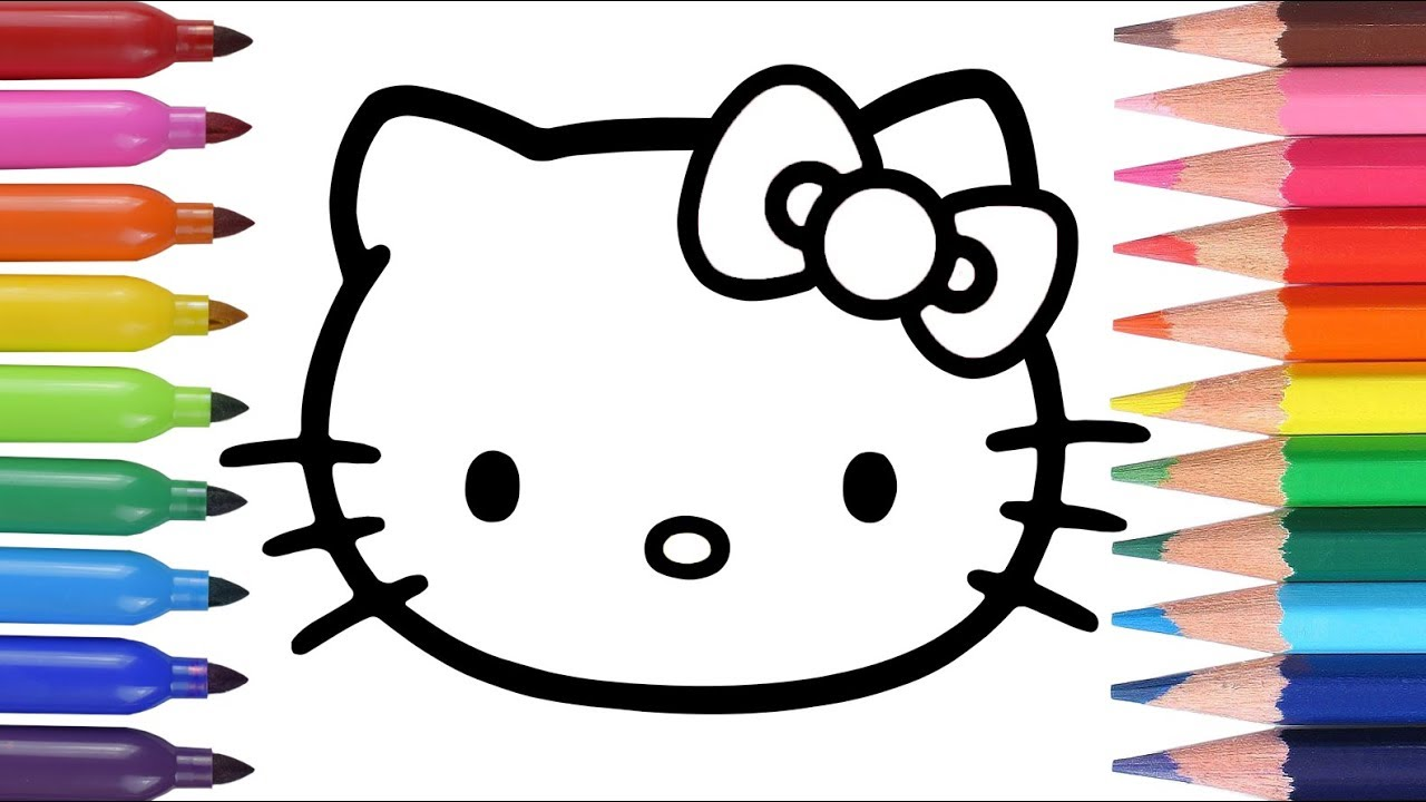 Dibuja Y Colorea Hello Kitty Aprende Los Colores How To Draw Hello Kitty Funkeep