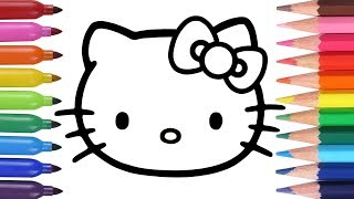 Dibuja y Colorea Hello Kitty - Aprende los Colores - How To Draw Hello Kitty / FunKeep
