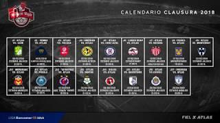 ✔ Rojinegros Atlas | Calendario Oficial Clausura 2018 | Liga Mx