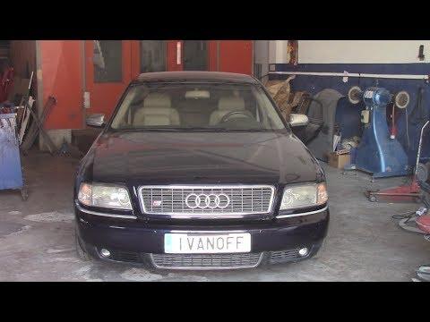 Ремонт автомобиля  Audi S8 двигатель AQH, замена термостата