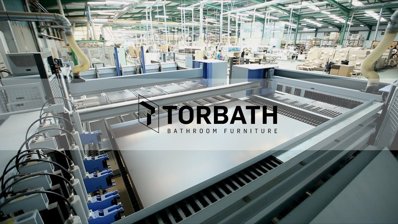 VÍDEO INDUSTRIAL  FABRICA DE MUEBLES DE BAÑO  TORBATH  YouTube