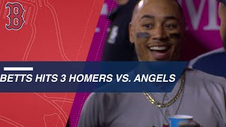 Betts Goes Yard vs. Ohtani, Slugs Three Homers vs. Angels