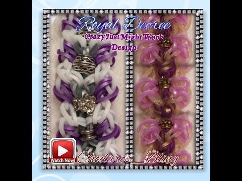 Rainbow Loom Band Royal Decree Bracelet Tutorial/ How to