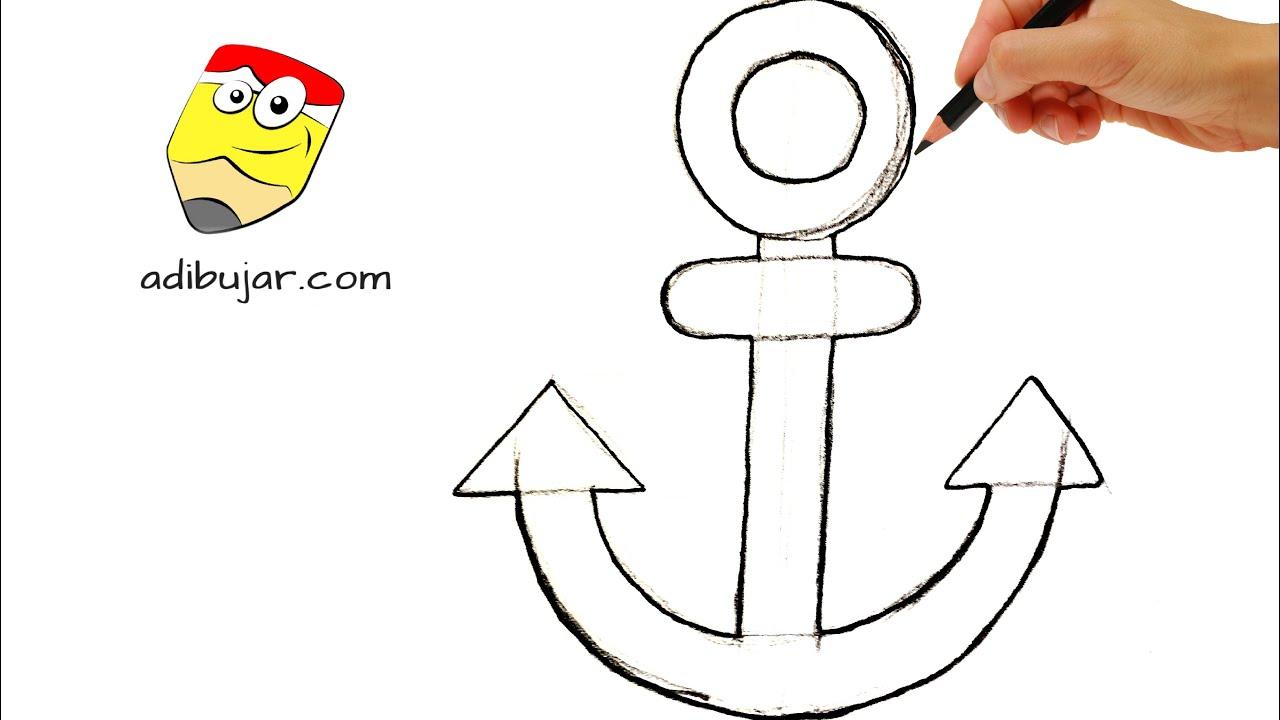 Emojis whatsapp c mo dibujar un ancla f cil dibujos de for Comedor facil de dibujar