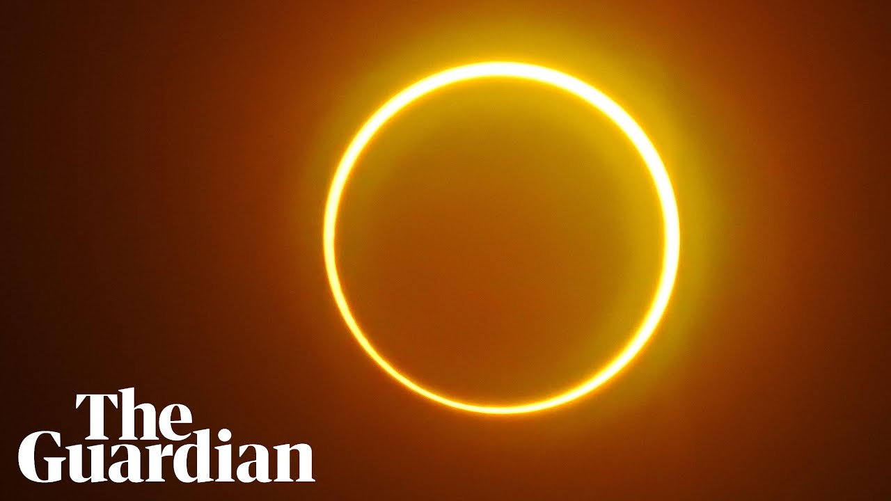 Rare 'ring of fire' solar eclipse seen across Asia