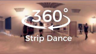 Red Rose Lady Studio 360° dance video VR GIRLS