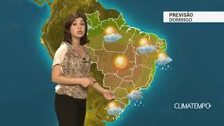 Previsão Brasil – Frente fria avança pelo litoral do Sudeste