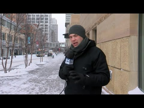 It's -12 Degrees In Minneapolis: Downtown Like A Ghost Town
